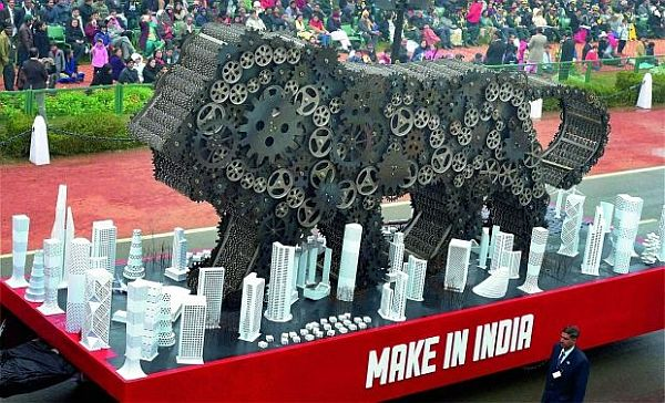 republic day parade - MAKE IN INDIA tabelaux